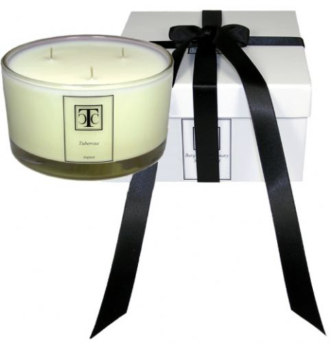Bergamot Rosemary Sandalwood Candle 80 hour Glass Bowl 3 Wick
